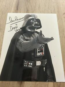 Dave Prowse Photo Signed In Person Darth Vader in Star Wars 10x8 Autograph Real