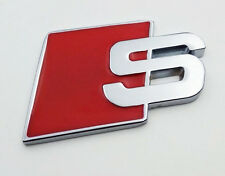 1x AUDI S LINE S EMBLEMA ADESIVO LOGO S Q 1 3 4 5 6 7 SLINE QUATTRO RS logo posteriore