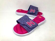 NEW! New Balance Youth Girls Classic Slide Sandal Purp/Pnk Size:4 #2012 e23b c