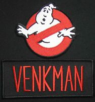 GHOSTBUSTERS NO GHOST VENKMAN MURRAY HALLOWEEN COSTUME HOOK 2 PATCH SET
