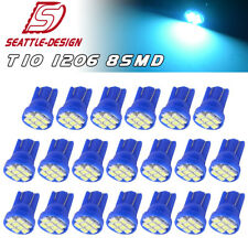 20X T10 194 192 168 LED ICE Blue Dome Map Instrument Panel Interior Light Bulbs