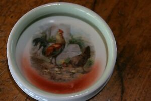 Antique Baby plate with chickens and Chicks Farmyard Heavy Ceramic