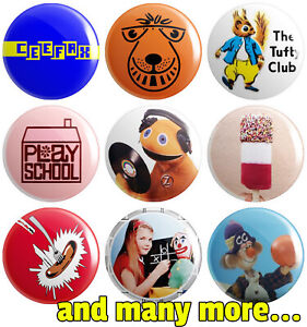 Retro Kids - Various Designs - BUTTON PIN BADGE 25mm 1 INCH | 70s 80s 90s TV