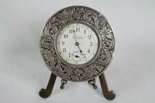 Vintage Sterling Silver Casing Eileen Watch Floral Ornate w/ Stand Rare Old