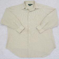 Ralph Lauren Dress Shirt Yellow Blue Mens 16.5 32/33 Large Man Pocket Collared