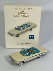 Hallmark Ornament 1961 Chevrolet Impala # 16 In The Series Dated 2006 QX2356 MIB