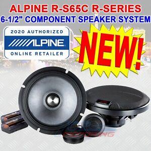 "ALPINE R-S65C 6.5"" TYPE-R 330W COMPONENT CAR SPEAKERS MIDS TWEETERS CROSSOVERS"