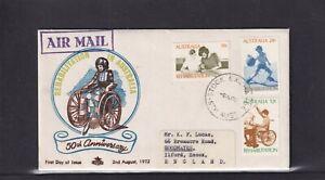 Australia 1972, Royal 50th Anniversary Rehabilitation in Australia  FDC
