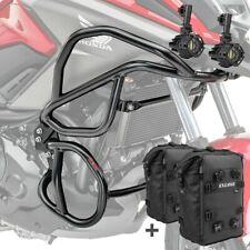 Set Sturzbügel  + Scheinwerfer für Honda NC 750 X / 700 X 12-20 schwarz+ CB8