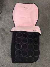 Silver Cross Pop Footmuff -BonBon black & pink