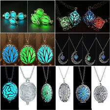 luminous Pretty Magic Fairy Steampunk Locket Glow In The Dark Pendant Necklace