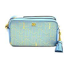 Michael Kors Leather Small Powder Blue Double Zip Crossbody Camera Bag $228