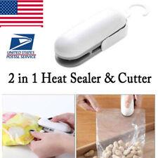 2 in 1 Mini Plastic Heat Sealer Sealing Machine Impulse Handheld Food Poly Bag