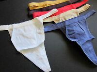VINTAGE Victoria's Secret NEW 100% Cotton Signature V-String Thong Panties S,M,L