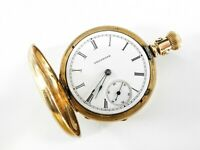 Illinois Watch Co Springfield Pocket Watch Gold Filled or Plated Diamond Hunting