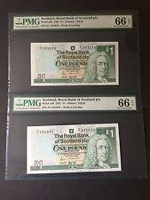 1987 Scotland, The Royal Bank of Scotland £1 P-346 A/1 Consecutive Pair