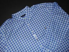 NWT, RALPH LAUREN Button Front Shirt ~ 4XLT ~ Big & Tall ~ Blue Plaid