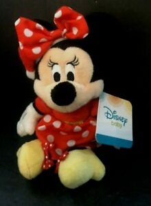 "Disney  Baby Minnie Mouse 7"" Plush toy Rattle Doll  2015 Kids Preferred Lovey"