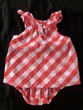 Carters Baby Toddler Girls Dress Romper Red Gingham Checkers Size 24 Months 2T
