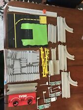 Vintage Tyco Us-1 Trucking Ho Slot Car Track Lot Parts Risers Rails 65 Pieces Y