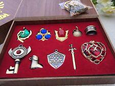 The Legend of Zelda Logo Link Necklace keychain Pendant Keys Collection Gift Box