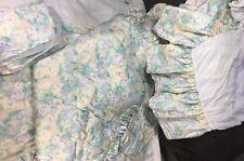 Baby Crib Bedding Set 7 pc Comforter Bumper Sheet Blanket Floral Blue Green