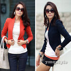 Fashion Women Small Jacket Short Coat Long Sleeve Cardigan Blazer Suit Outwear