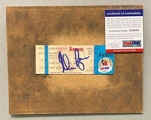 Nolan Ryan Signed 1992 California Angels Ticket Stub PSA/DNA COA HOF