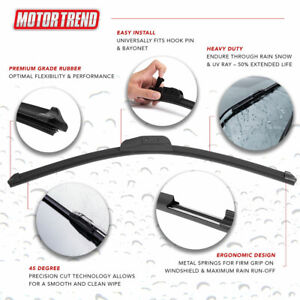 """2 Pcs Motor Trend 22"""" Replacement Windshield Wiper Blades Premium Protection"""