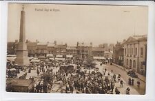 VINTAGE POSTCARD MARKET DAY AT RIPON, YORKSHIRE to 1 TALBOT STREET, NOTTINGHAM
