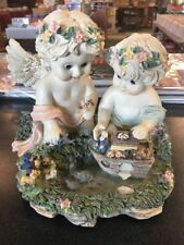 Noah's Ark I'd Like To Teach The World To Sing Cherub Angel Musical Figurine B58
