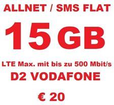 Vodafone D2 Callya Digital Prepaid SIM Karte 0? Restguthaben Freigeschaltet