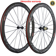 Fast Shipping700C 50mm Clincher Bike Carbon Road Bicycle Wheels Carbon Wheelset