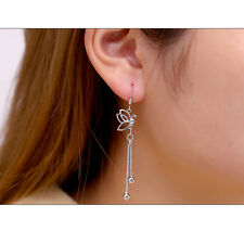 Butterfly Earrings hot Women Lady Dangle Ear Studs 925 Silver Plated Elegent