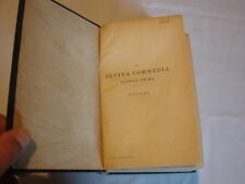 (Dante) La divina commedia Cantica prima Inferno 1919 Hoepli Rilegato