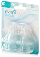 Evenflo Classic Silicone Nipples Stage 1 2 3 Slow, Medium or Fast Flow