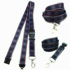 BLACK RED LINES Long Lanyard As Neck Strap Holder for keys, badge, Id card etc