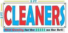 CLEANERS Banner Sign XXL All Weather Vintage Retro Look Red White Blue Dry