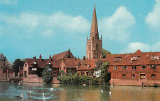 (19299) Postcard - UK - Abingdon St Helens Church and Thames - un-posted