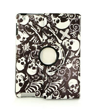 Cool Skull 360º Rotating Folio Stand Leather Case Cover For Apple iPad Air ipad5