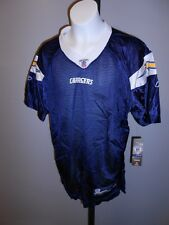 NEW Los Angeles CHARGERS YOUTH Large L 14-16 Navy Reebok Team Blank Jersey 9QU