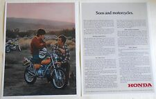 1972 HONDA SL-70 SALES AD SONS AND MOTORCYCLES