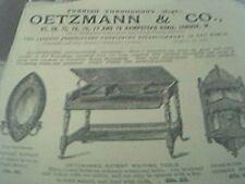magazine advert 1892 - oetzmann & co furniture company hampstead london