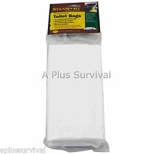 12 Pack of Toilet Liner Bags for Portable Honey Bucket Camping Survival Toilets