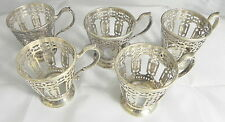 Tiffany and Co. Sterling Silver 5 Demitasse antique cups 1914 pattern #18705