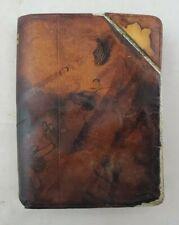 Antique James Dixon A Pleasant Surprise Secret Drink Flask Leather over Sterling