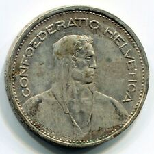1953 Confoederatio Helvetica 5 FR Silver Argento Svizzera Franchi