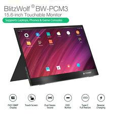 BlitzWolf BW-PCM3 15.6'' Touch Screen FHD 1080P Portable Computer Monitor Screen