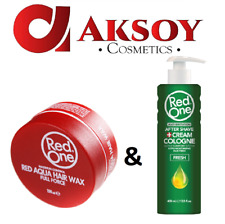 1x RedOne Haarwax Rot 150ml und Aftershave Cream Cologne Fresh (100ml/2,36€)