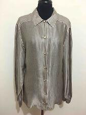Roccobarocco Vintage '80 Women's Shirt Blouse Pinstripe Woman Shirt Sz. L - 46